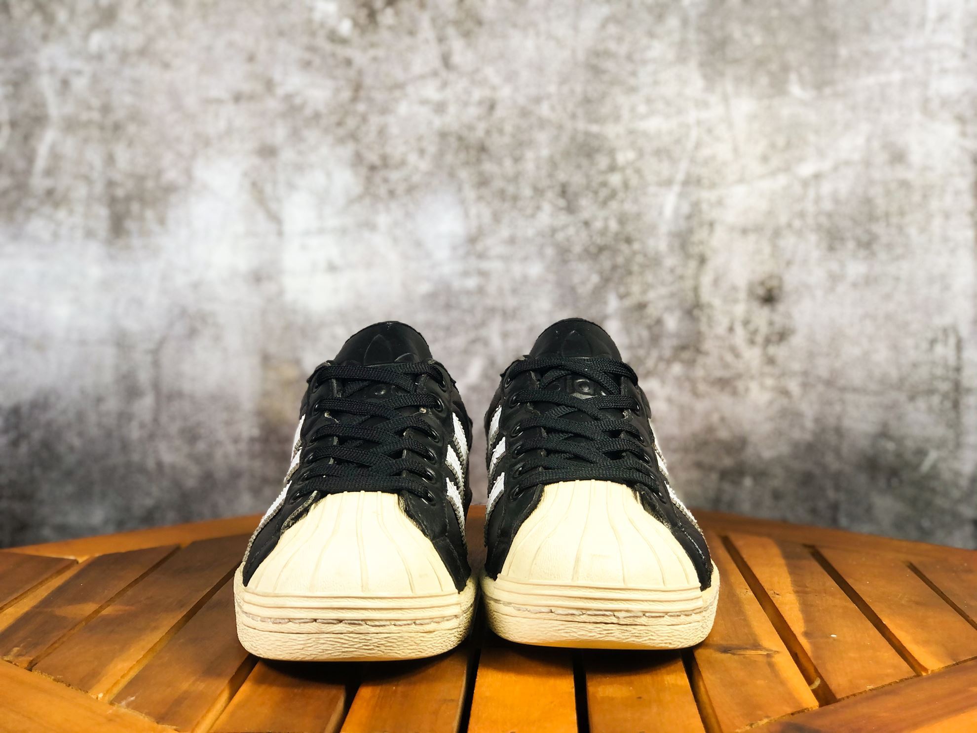 Hình ảnh của ADIDAS ULTRASTAR 80S TRAINERS LACE UP SHOES LEATHER